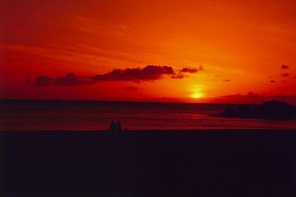 綺麗な夕日の写真